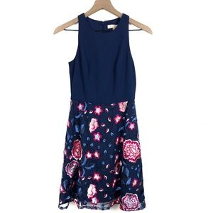 Aidan Mattox Floral Embroidered Sleeveless Dress